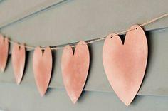 Diy: Guirnalda de corazones para decorar tu boda
