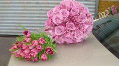 Tulip & roses purple
