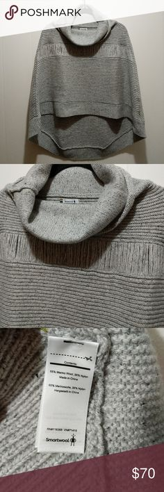 Smartwool poncho Super fun poncho in light heathered grey. Excellent condition. Smartwool Sweaters Shrugs & Ponchos