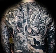 40 Wolf Back Tattoo Designs For Men