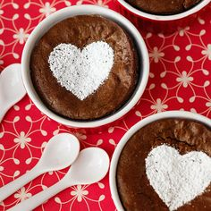A powdered sugar heart transforms basic brownies into a lovely #ValentinesDay dessert.