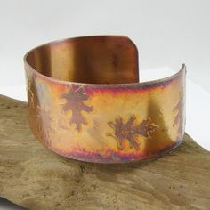 great fall Etched Copper Cuff  via Etsy.