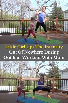 There's nothing quite like mother-daughter bonding time. And if it involves being active and getting fresh air? Even better! A little girl named Indy May and her certified trainer mom Kristin like to do workout videos together and share them on their YouTube channel called Little-fit.