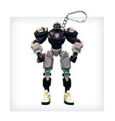 "NFL Oakland Raiders NFL 3"""" Team Cleatus FOX Robot NFL Football Key Chain Version 2.0"