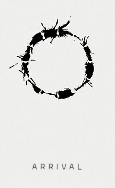 Arrival (2016)  One of the most interesting sci-fis I've ever seen.   Movie poster design: Graziela Leite #arrival #movie