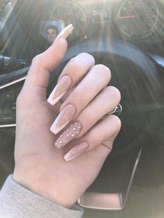 150 Kylie Jenner nails inspired to try this season - 150 kylie each . - 150 Kylie Jenner Nails Inspired To Try This Season – 150 Kylie Jenner Nails Inspired To Try This - Perfect Nails, Gorgeous Nails, Pretty Nails, Frensh Nails, Hair And Nails, Easy Nails, French Tip Nail Designs, Clear Nail Designs, Nagel Bling