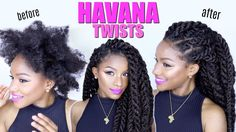 How-to: Havana Twists on Natural Hair | Jumbo Marley Twists - YouTube