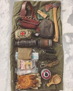 "3,140 Likes, 37 Comments - Raven Wilderness School (@jeffhatch) on Instagram: ""Kit for today's basic wilderness skills class ↟ ↟ ↟ #bushcraft #woodlore #woodsman #outdoors…"""