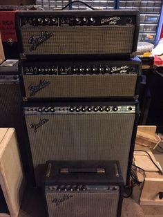 Fender Stratocaster, Fender Guitar Amps, Guitar Rig, Guitar Pedals, Cool Guitar, Fender Vintage, Vintage Guitars, Guitar Pedal Board, Vintage Les Paul