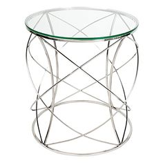 Embrace contemporary styling with the modern form and chrome base of the Sophie Side Table, Chrome from CAFE Lighting & Living.