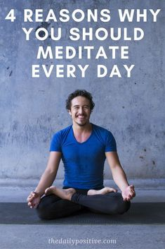 A healthy lifestyle also includes being mentally fit. Meditation can give you day the calm foundation it needs. You can work on manifesting your vision, practice your gratitude or use your time to be still. Here are a few reasons why you should mediate ev Meditation Mantra, Meditation Benefits, Daily Meditation, Meditation Practices, Meditation Music, Mindfulness Meditation, Meditation Space, Meditation For Beginners, Meditation Techniques