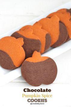 Chocolate Pumpkin Spice Cookies @createdbydiane