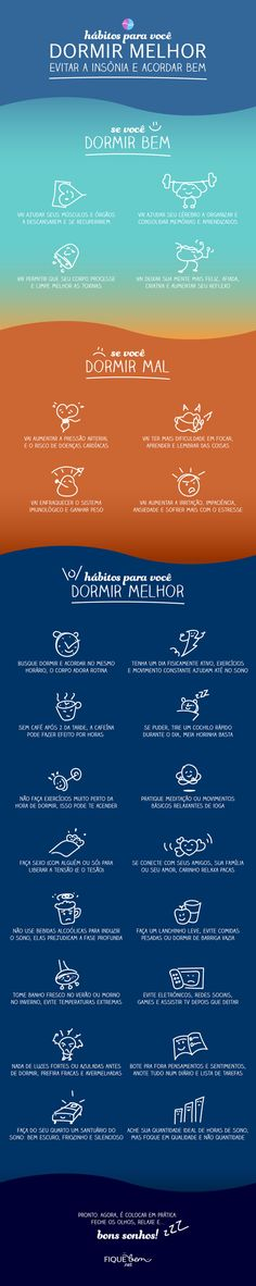 [Infográfico] Habits for you to sleep better fight insomnia and wake up well Health And Wellness, Health Care, Health Fitness, Stress Relief Tips, Body Is A Temple, Body Hacks, Way Of Life, Healthy Tips, Personal Trainer