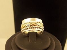 ANTI STRESS  SILVER  Gold Filled Ring Meditation by StyleCenter, $75.00