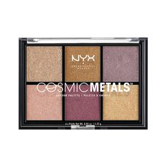 """""""Cosmic Metals Shadow Palette"""" by NYX Cosmetics. This wasn't on my beauty list for fall, but it should have been. I love the colors I really hope I get the chance to buy it.  Makeup   Beauty"""
