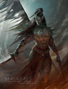 Malakai, Demon Assassin by ArchLimit on deviantART Fantasy Demon, Demon Art, Fantasy Male, Fantasy Monster, High Fantasy, Fantasy Warrior, Medieval Fantasy, Dark Fantasy Art, Fantasy Artwork