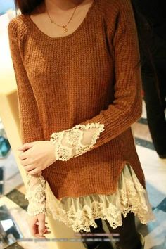 rescue a boxy or masculine sweater by marva
