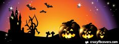 Colorful Pumpkin Halloween Facebook Cover - Facebook Timeline Cover Photo - Fb Cover