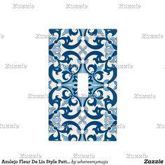 Azulejo Fleur De Lis Style Pattern Light Switch Cover