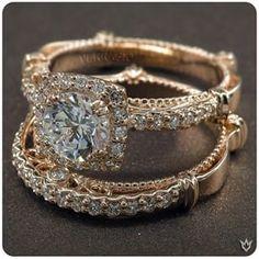 Verragio Parisian-123CU diamond engagement ring in rose gold available at Arthurs Jewelers