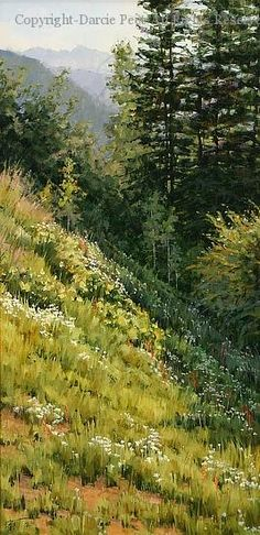 Wildflower Cascade - Vail Valley - Oil by Darcie Peet