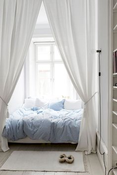 For a bed in an alcove