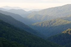 Appalachian Trail - This looks like the view from the cabin we had!!  Blood Mountain, GA.
