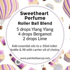 6 easy ylang ylang roller bottle blends that are perfect for Valentine's Day, gift giving and make great DIY perfumes! Fantastic DIY tips are offered on our site. Read more and you will not be sorry you did. Vital oils may be applied straight to your ski Perfume Versace, Perfume Diesel, Essential Oil Perfume, Essential Oil Uses, Doterra Essential Oils, Essential Oil Diffuser, Essential Oil Recipes For Valentine's Day, Natural Beauty Products, Essential Oil Blends