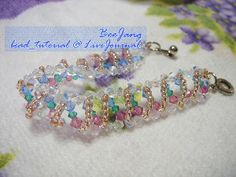 Swirling Pastel Crystals Bracelet   AllFreeJewelryMaking.com