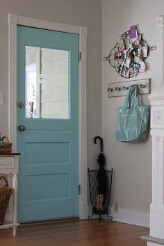 """Aquaduct"" by Sherwin Williams. Fun door, pretty color!"