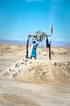 a well in the desert of Morocco