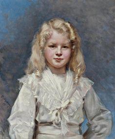 1898_Девушка с золотистыми волосами (The girl with the golden hair) RAIMUNDO DE MADRAZO Y GARRETA (SPANISH, 1841-1920)