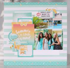 """Layout by Anya Lunchenko for #EchoParkPaper with the """"Summer Dreams"""" collection"""
