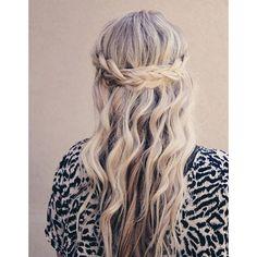 Coiffure cheveux ondules printemps ete 2015