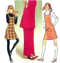 Simplicity 9525 Vintage Sewing Pattern Misses Mini Jumper Pants Size 10
