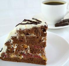 Tort cu cirese si mousse de ciocolata – Savoare si Bun Gust Tiramisu, Ethnic Recipes, Desserts, Mousse, Food, Pies, Tailgate Desserts, Deserts, Essen