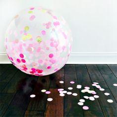 Jumbo Confetti Balloon: Lulu Pinks & Gold