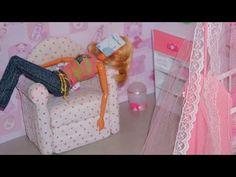 Como fazer sofá Chaise Longue para boneca Monster High, Barbie, etc - YouTube
