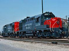 Southern Pacific Railroad, Alco RSD-12 diesel-electric locomotive in Los Angeles, California, USA