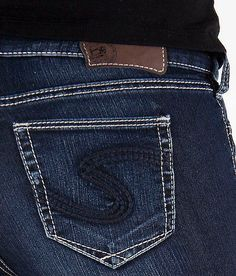 NEW Womens SILVER JEANS Mid Rise Dark Suki Skinny Stretch Jegging ...