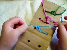 Great and inexpensive way to teach your troop how to tie knots or in preparation to tie shoes. Cub Scouts Wolf, Boy Scouts, Cub Scout Activities, Toddler Activities, Motor Activities, Scout Knots, Girl Scout Camping, Brownie Girl Scouts, Girl Scout Crafts