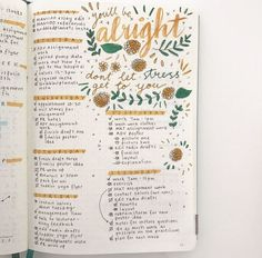 Nice colorful handlettering in bullet journal #bulletjournal #bujo