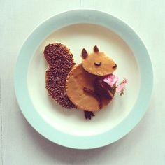 Pour un petit dej fun, découvrez le petit toast écureuil ! #kiri #ecureuil #recette #enfant #fun #food #rigolo #ptidej