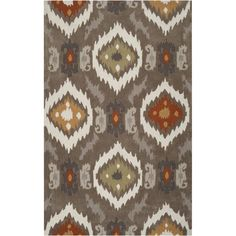 This popular contemporary rug features stylish design in rich neutral shades. Hand-tufted, this rug will add touch of style and elegance to any room.