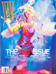 Looking Back at the W Magazine Art Issue - November 2006 cover.