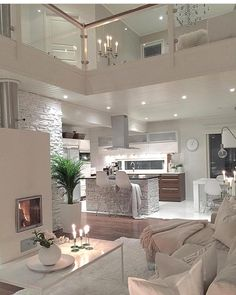 Try To Decorating With Luxury White Living Room Design 01 - Home Decor Design House Rooms, House Inspiration, House Styles, Living Room Designs, Interior, House, Home Decor, House Interior, Luxury Homes