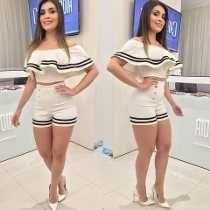 Conjunto Marinheira Short+cropped Em Neopreme C/bojo Lindo!!