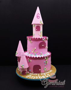 """8"""" - 6"""" Buttercream cakes with buttercream and fondant details"""