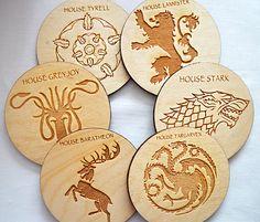 Conjunto de 6 juego de tronos posavasos