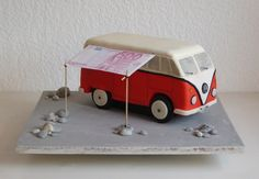 Fondant, Volkswagen VW Bulli T1 als Torte